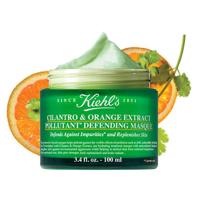 Cilantro and Orange Extract Pollutant Defending Masque