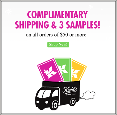 Complimentary Shipping & 3 Samples